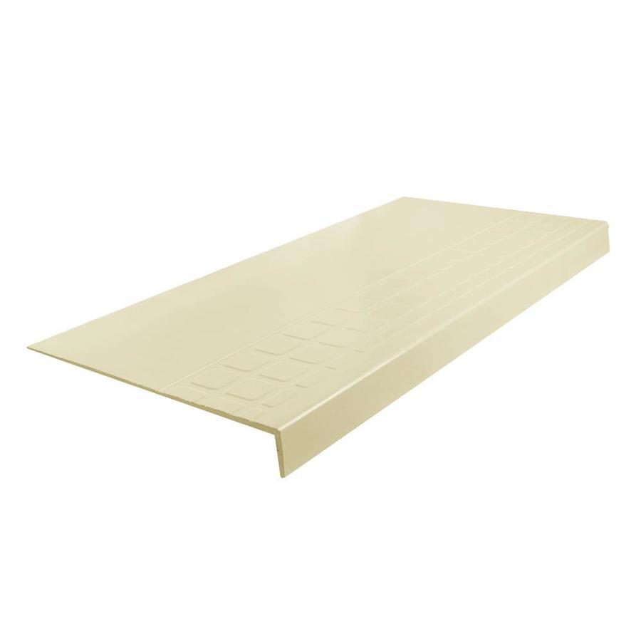 "FLEXCO Almond #800-48"" Rubber Heavy Duty Square Stair Tread"