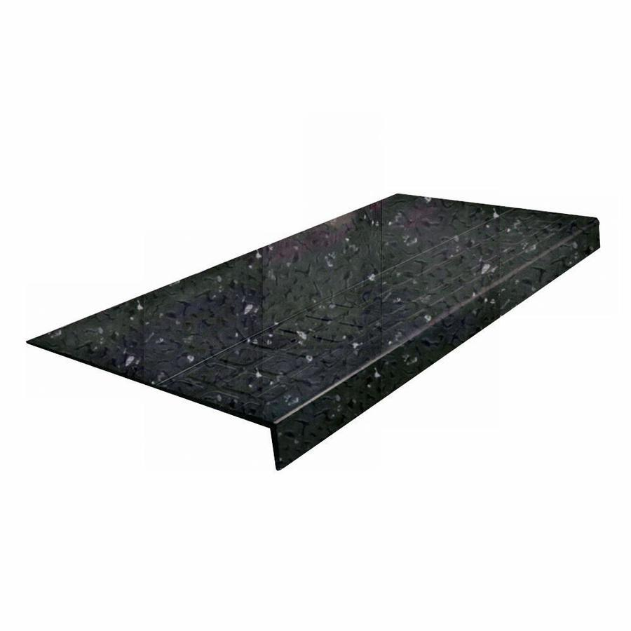 "FLEXCO Black Spextones #800-48"" Rubber Heavy Duty Square Stair Tread"