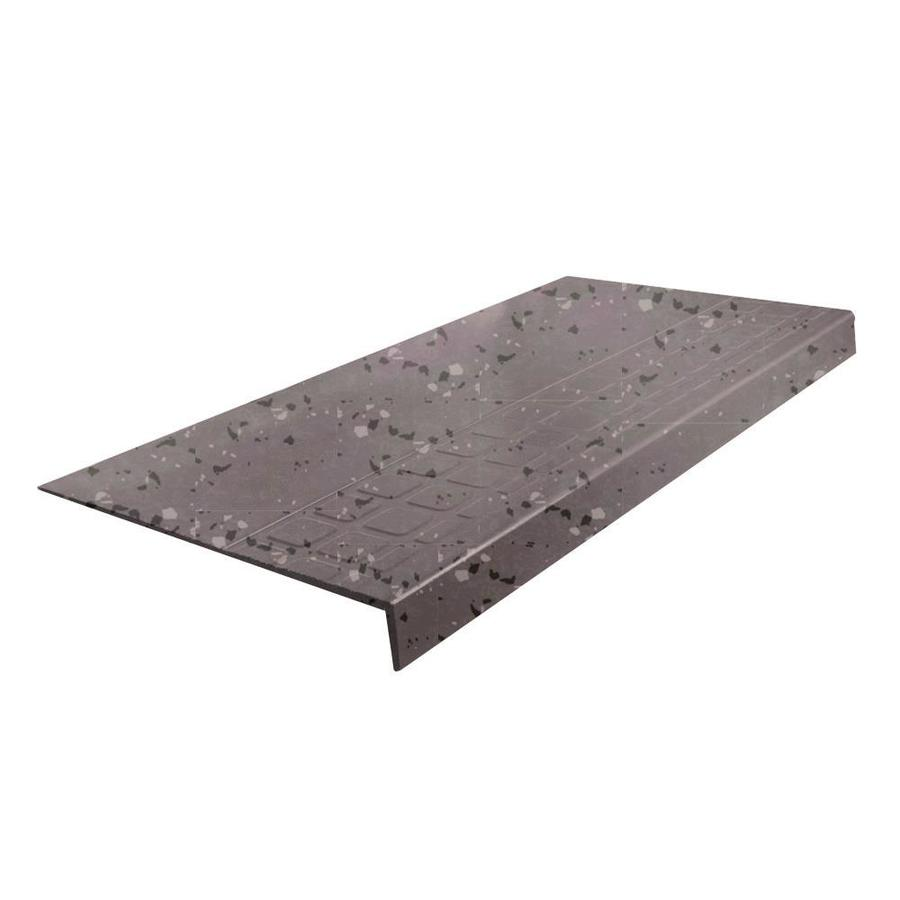 "FLEXCO FLEXCO Rubber Stair Tread Square Design Square Nose Spextone #800 12.25""x.25""x48"""