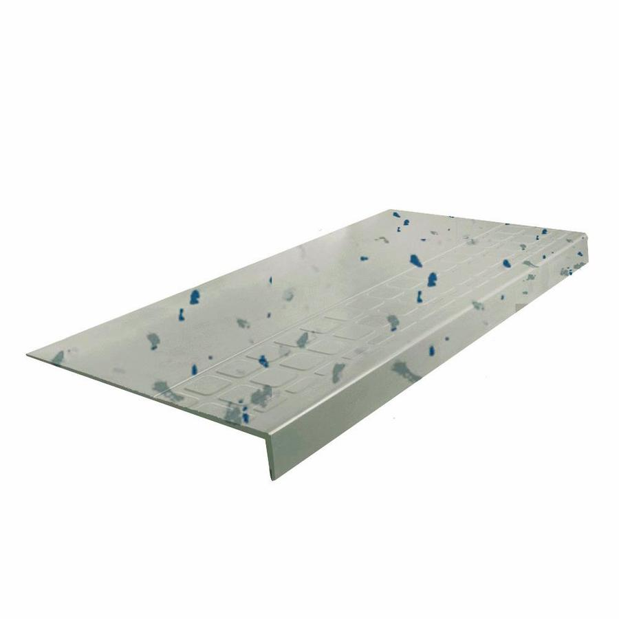 FLEXCO 12.25-in x 54-in Light Gray Spext1S Rubber Square Nose Stair Treads