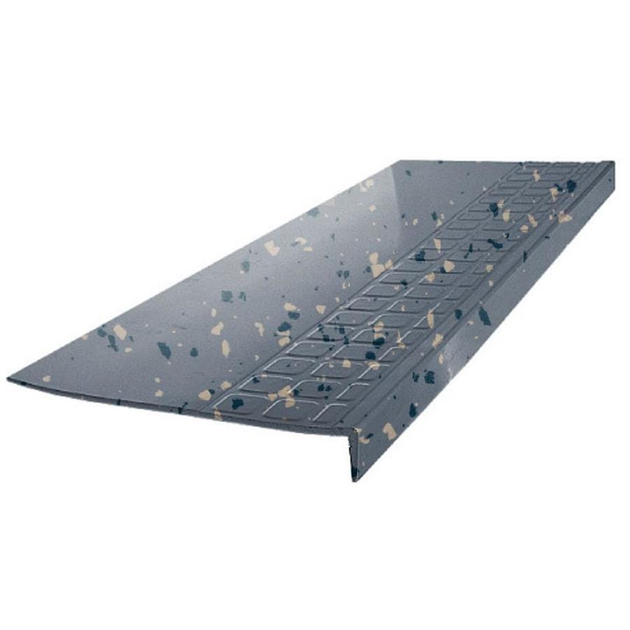 FLEXCO 12.25-in x 54-in Blue Shadow Rubber Square Nose Stair Treads