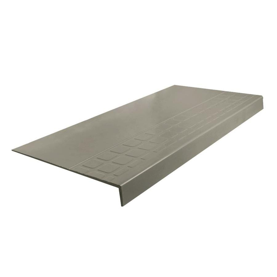 FLEXCO 12.25-in x 60-in Stone Rubber Square Nose Stair Treads