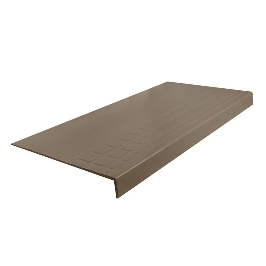 FLEXCO 12.25-in x 60-in Milk Chocolate Rubber Square Nose Stair Treads