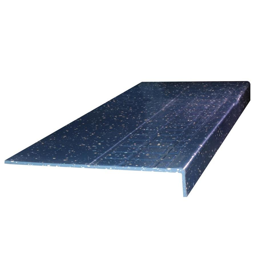 FLEXCO 12.25-in x 60-in Delft Pansy Rubber Square Nose Stair Treads