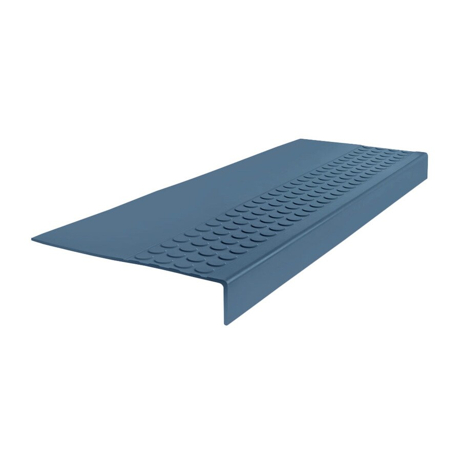 FLEXCO 12-in x 54-in Blue Rubber Square Nose Stair Treads