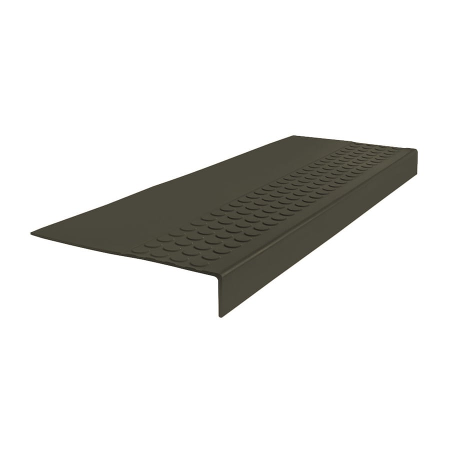 FLEXCO 12-in x 54-in Black Brown Rubber Square Nose Stair Treads