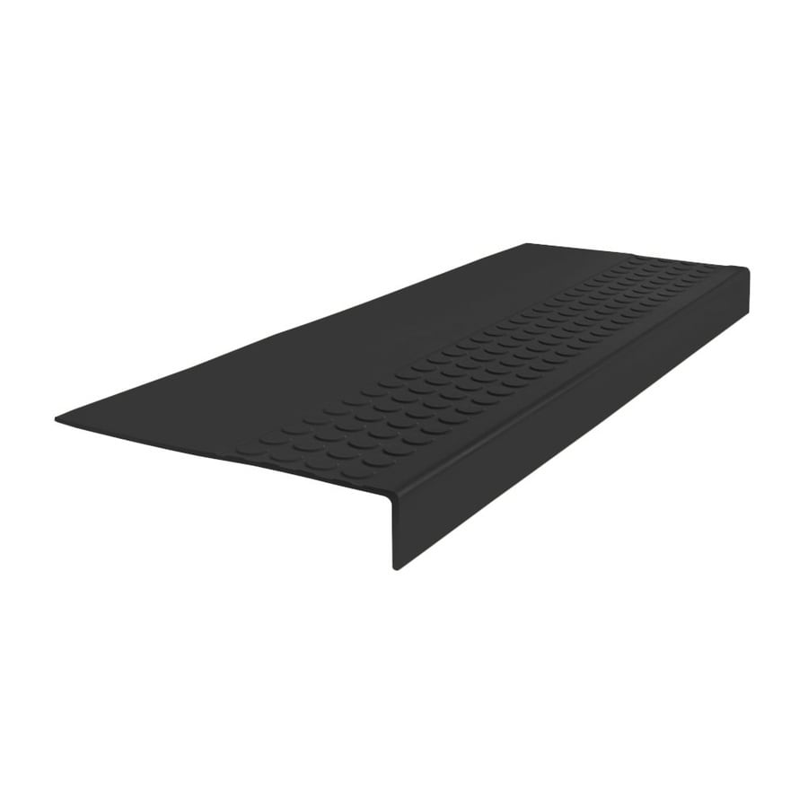 FLEXCO 12-in x 60-in Black Dahlia Rubber Square Nose Stair Treads