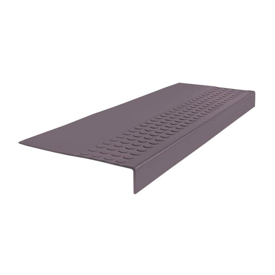 FLEXCO 12-in x 60-in Charcoal Rubber Square Nose Stair Treads