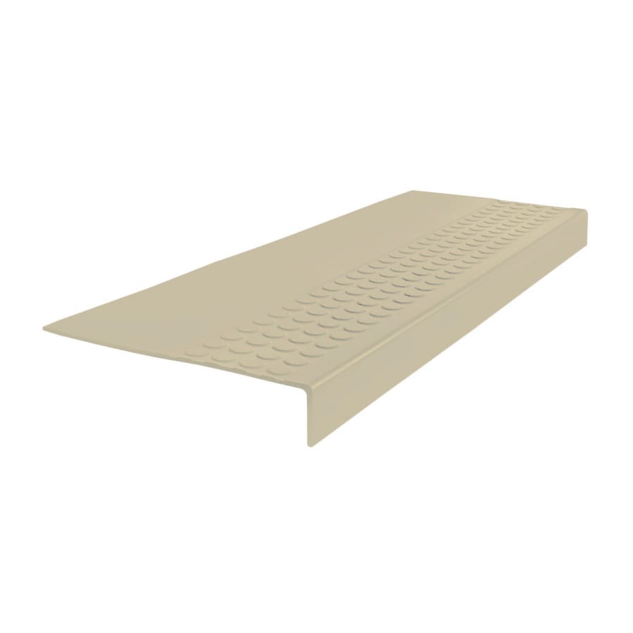 FLEXCO 12-in x 60-in Almond Rubber Square Nose Stair Treads