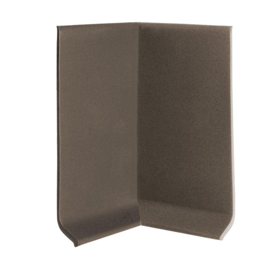 FLEXCO 4-in H x .125-in W x 0.25-ft L Bark Rubber Wall Base Inside Corner (30-pack)