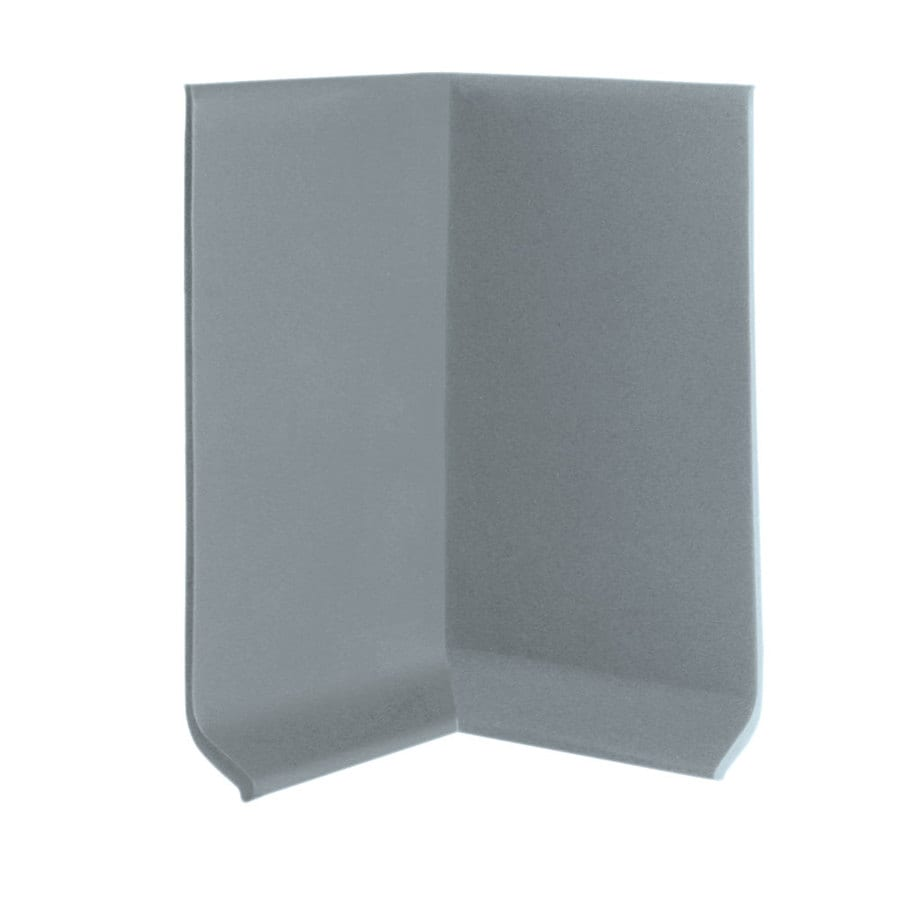 FLEXCO 30-Pack 4-in W x 0.25-ft L Medium Gray Rubber Inside Corner Wall Base