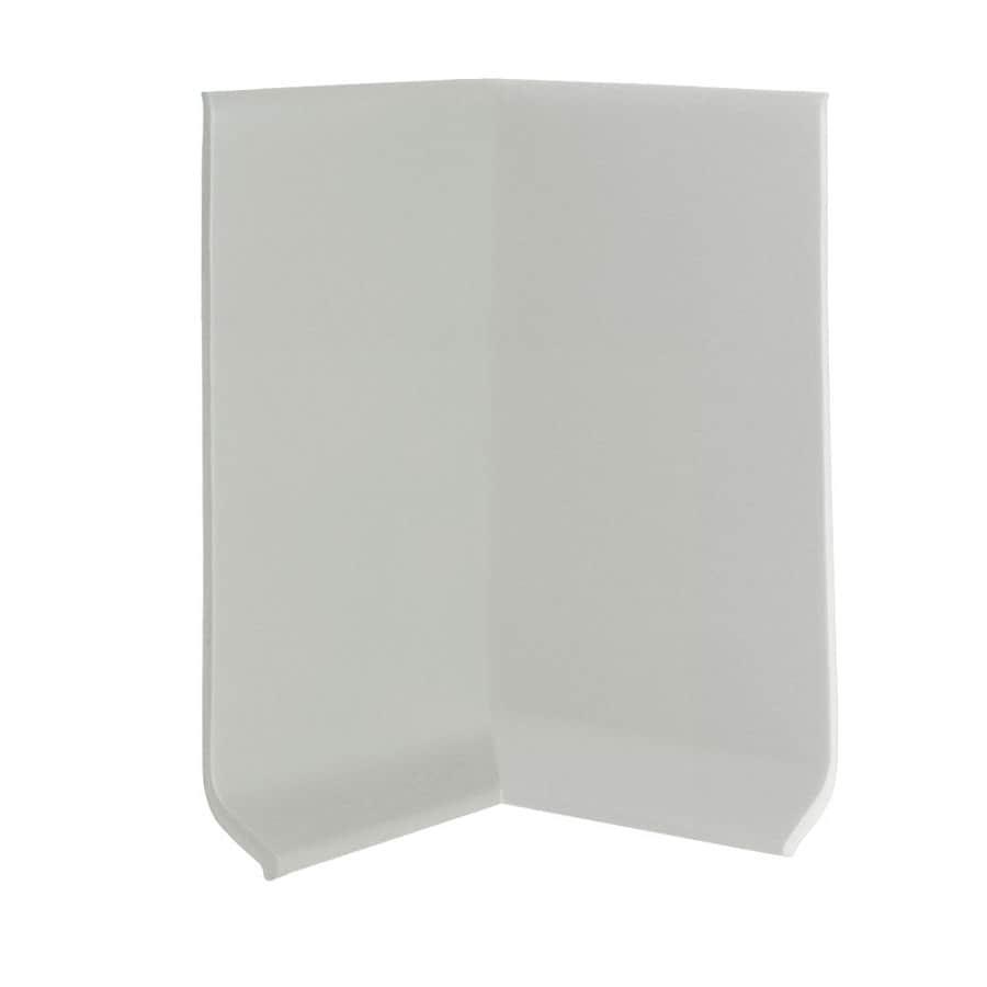 FLEXCO FLEXCO 4-in H x .125-in W x 0.25-ft L Light Gray Rubber Wall Base Inside Corner (30-pack)