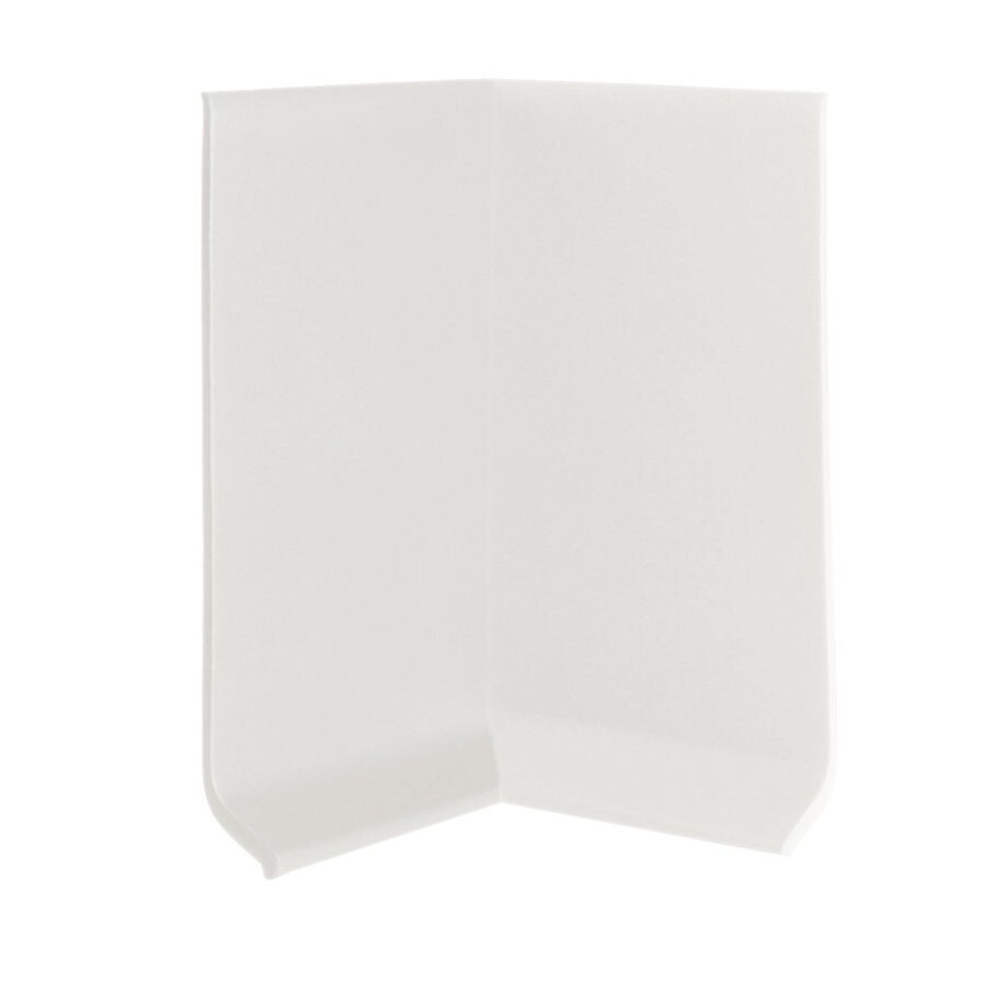 FLEXCO FLEXCO 4-in H x .125-in W x 0.25-ft L Arctic White Rubber Wall Base Inside Corner (30-pack)