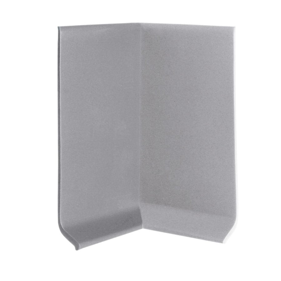FLEXCO FLEXCO 4-in H x .125-in W x 0.25-ft L Gray Rubber Wall Base Inside Corner (30-pack)