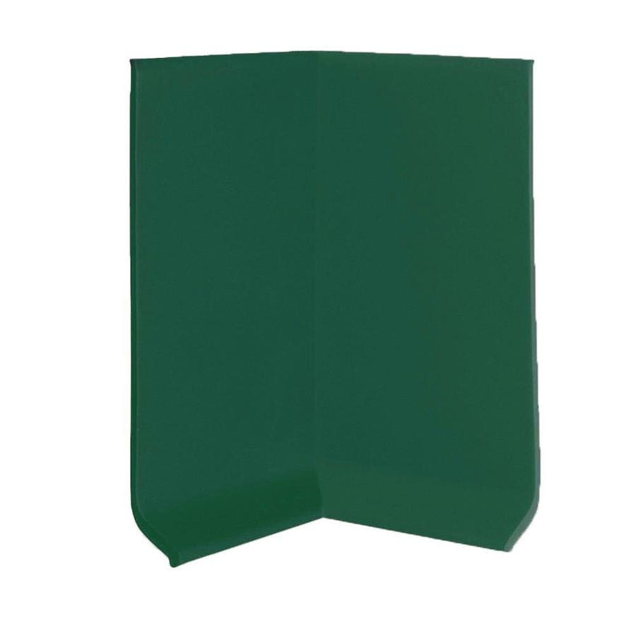 FLEXCO 30-Pack 4-in W x 0.25-ft L Polo Green Rubber Inside Corner Wall Base