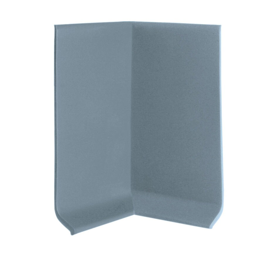 FLEXCO FLEXCO 4-in H x .125-in W x 0.25-ft L Blue Shadow Rubber Wall Base Inside Corner (30-pack)