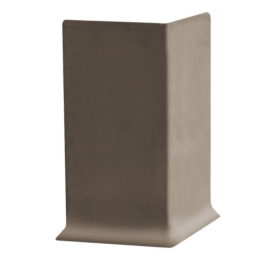 FLEXCO 2.5-in H x .125-in W x 0.25-ft L Bark Rubber Wall Base Outside Corner (30-pack)