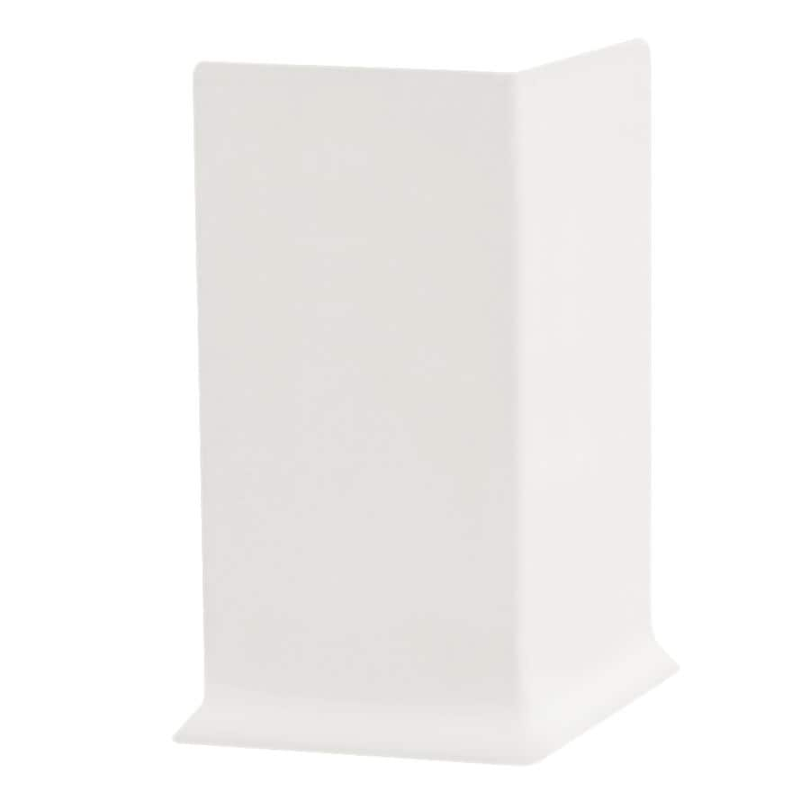 FLEXCO FLEXCO 2.5-in H x .125-in W x 0.25-ft L Arctic White Rubber Wall Base Outside Corner (30-pack)