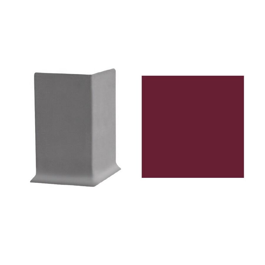FLEXCO 2-1/2-in W x 3-in L Berry Outside Corner Vinyl Wall Base