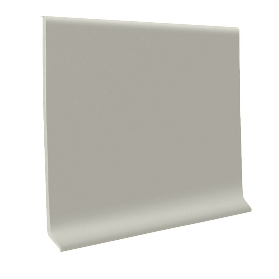 FLEXCO 30-Pack 6-in W x 4-ft L Light Gray Rubber Wall Base
