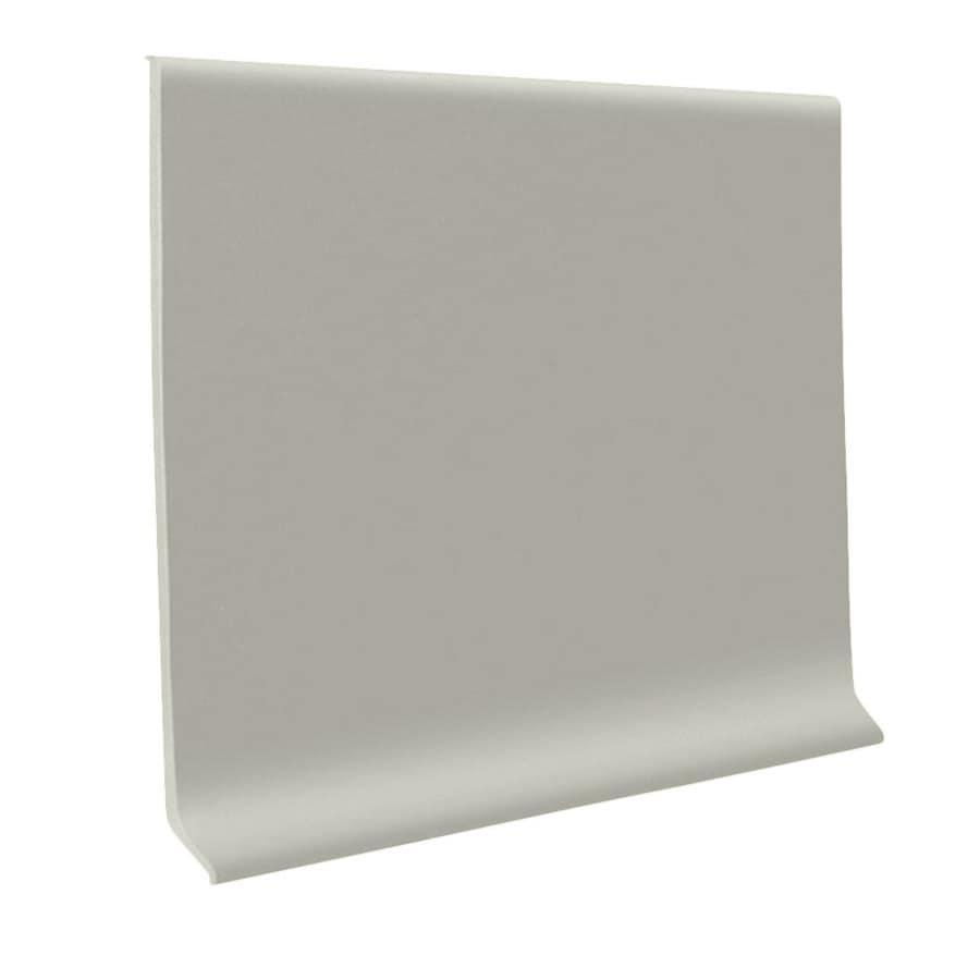 FLEXCO 30-Pack 6-in W x 4-ft L Light Gray Rubber Standard Wall Base