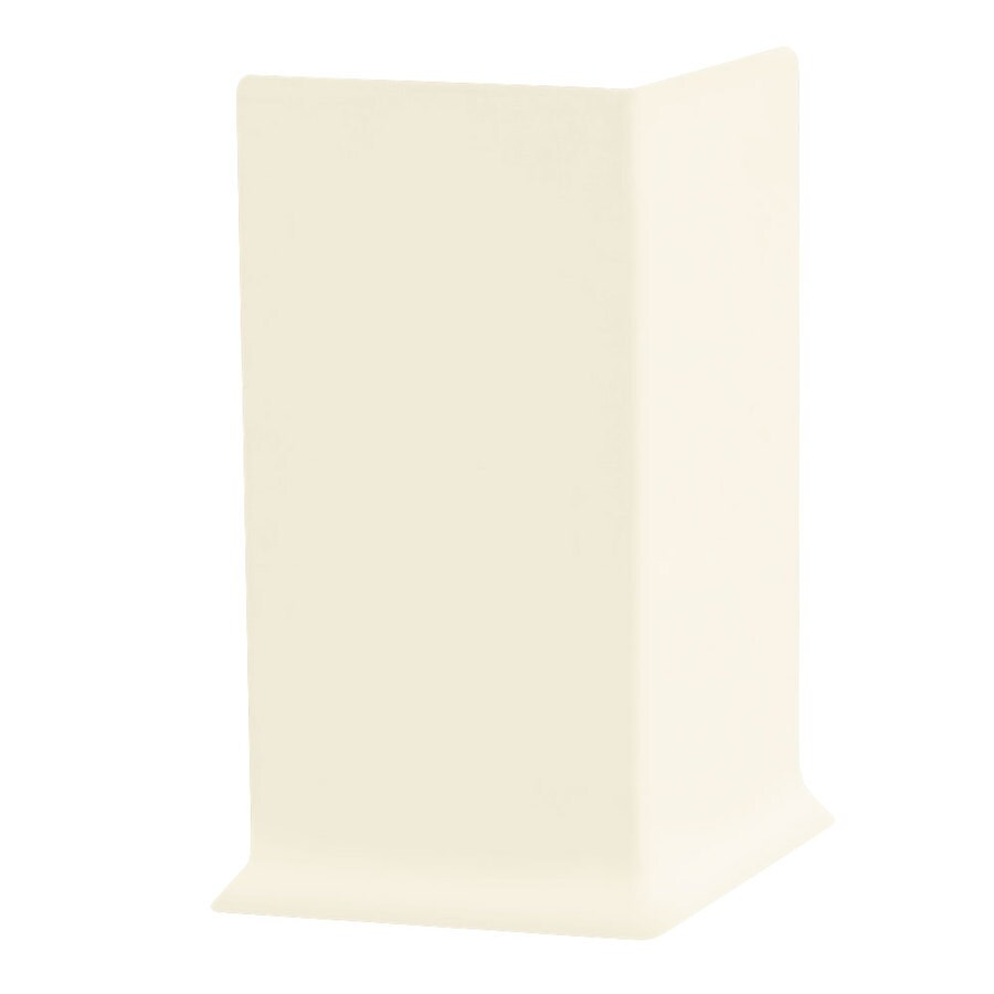 FLEXCO FLEXCO 4-in H x .125-in W x 0.25-ft L Baby Breath Rubber Wall Base Outside Corner (30-pack)