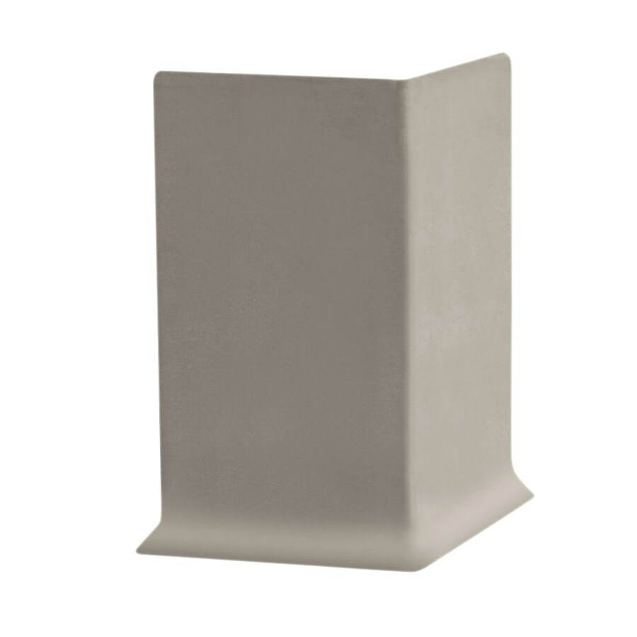 FLEXCO 30-Pack 4-in W x 0.25-ft L Stone Rubber Outside Corner Wall Base