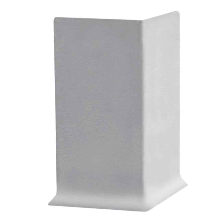 FLEXCO 30-Pack 4-in W x 0.25-ft L Light Gray Rubber Outside Corner Wall Base