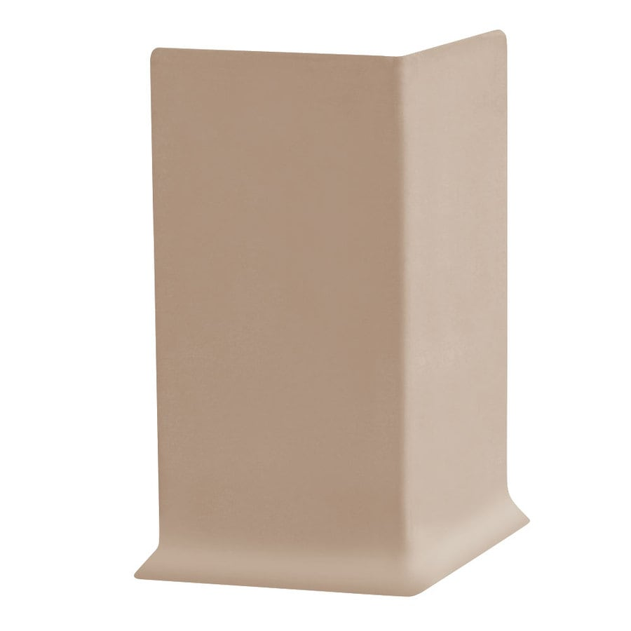FLEXCO 30-Pack 4-in W x 0.25-ft L Dune Rubber Outside Corner Wall Base