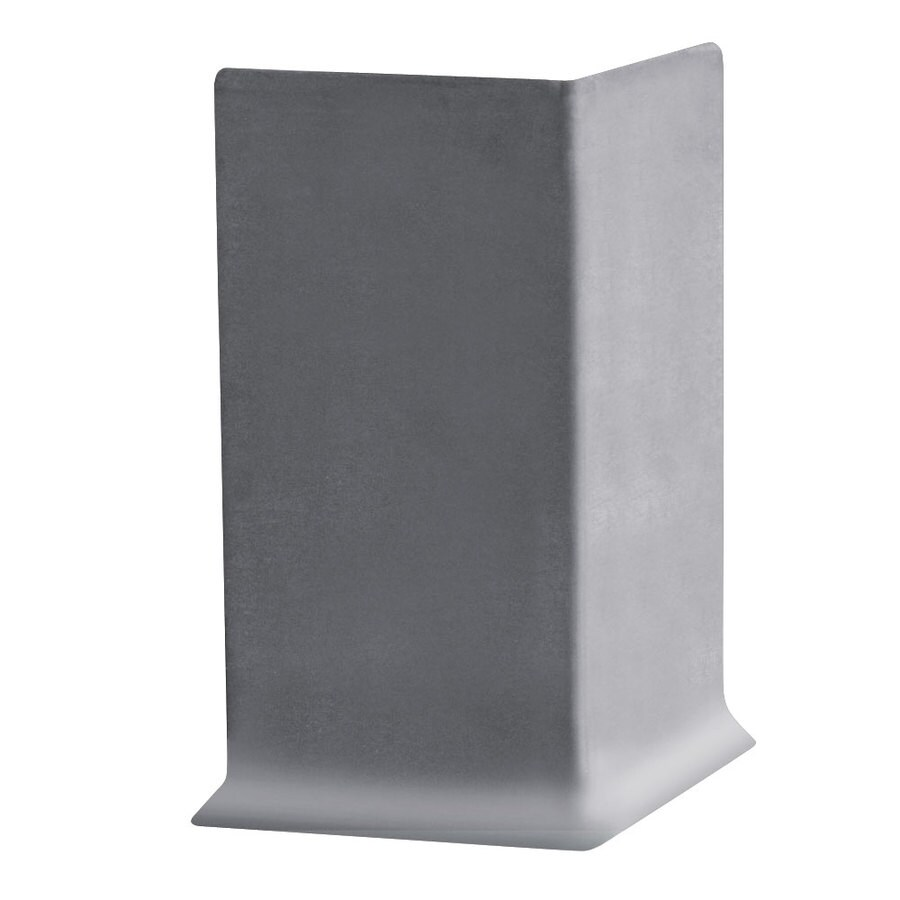 FLEXCO FLEXCO 4-in H x .125-in W x 0.25-ft L Gray Rubber Wall Base Outside Corner (30-pack)