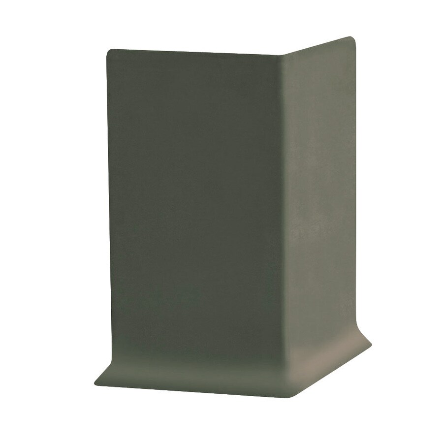 FLEXCO FLEXCO 4-in H x .125-in W x 0.25-ft L Black Brown Rubber Wall Base Outside Corner (30-pack)