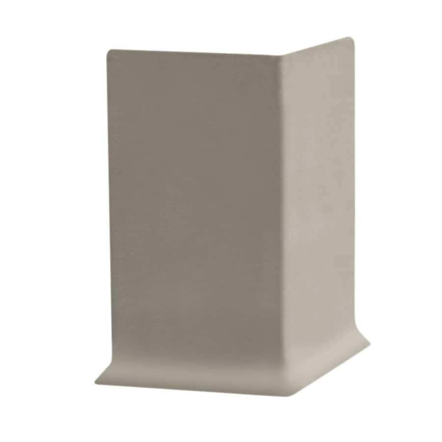 FLEXCO 6-in H x .125-in W x 0.25-ft L Stone Rubber Wall Base Outside Corner (30-pack)