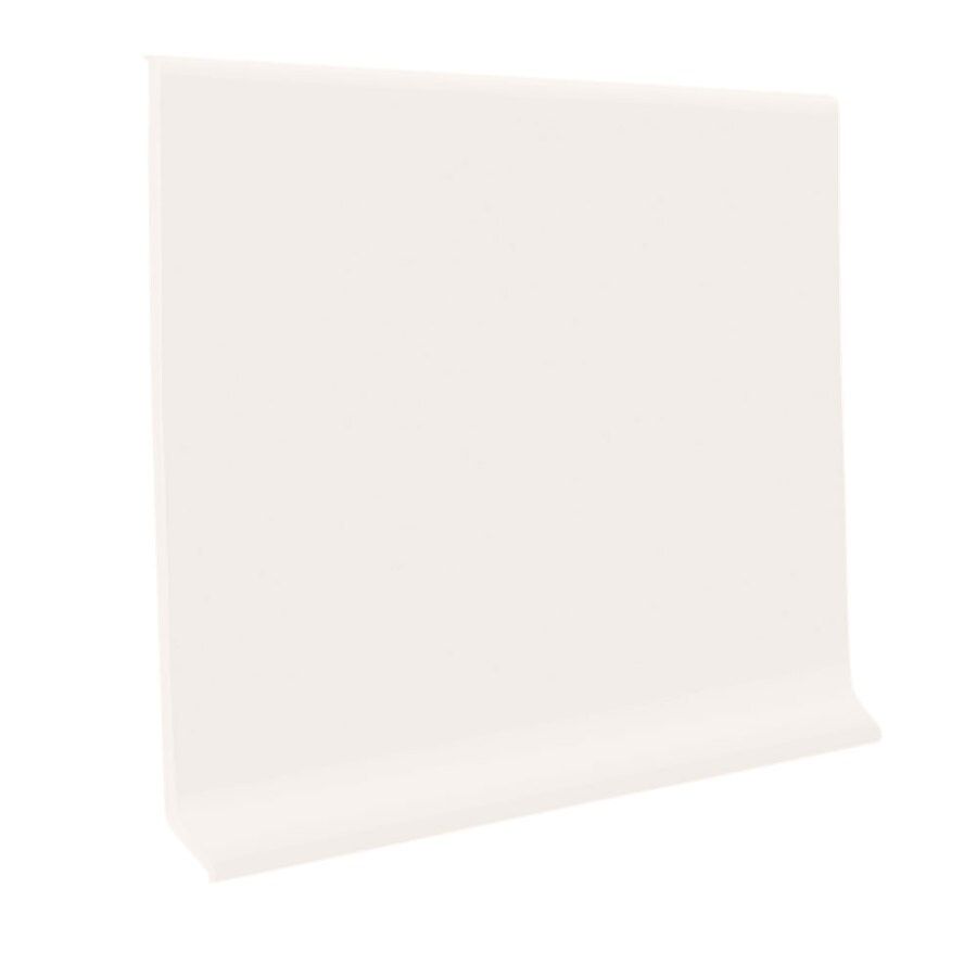 FLEXCO 30-Pack 2.5-in W x 4-ft L Arctic White Rubber Wall Base