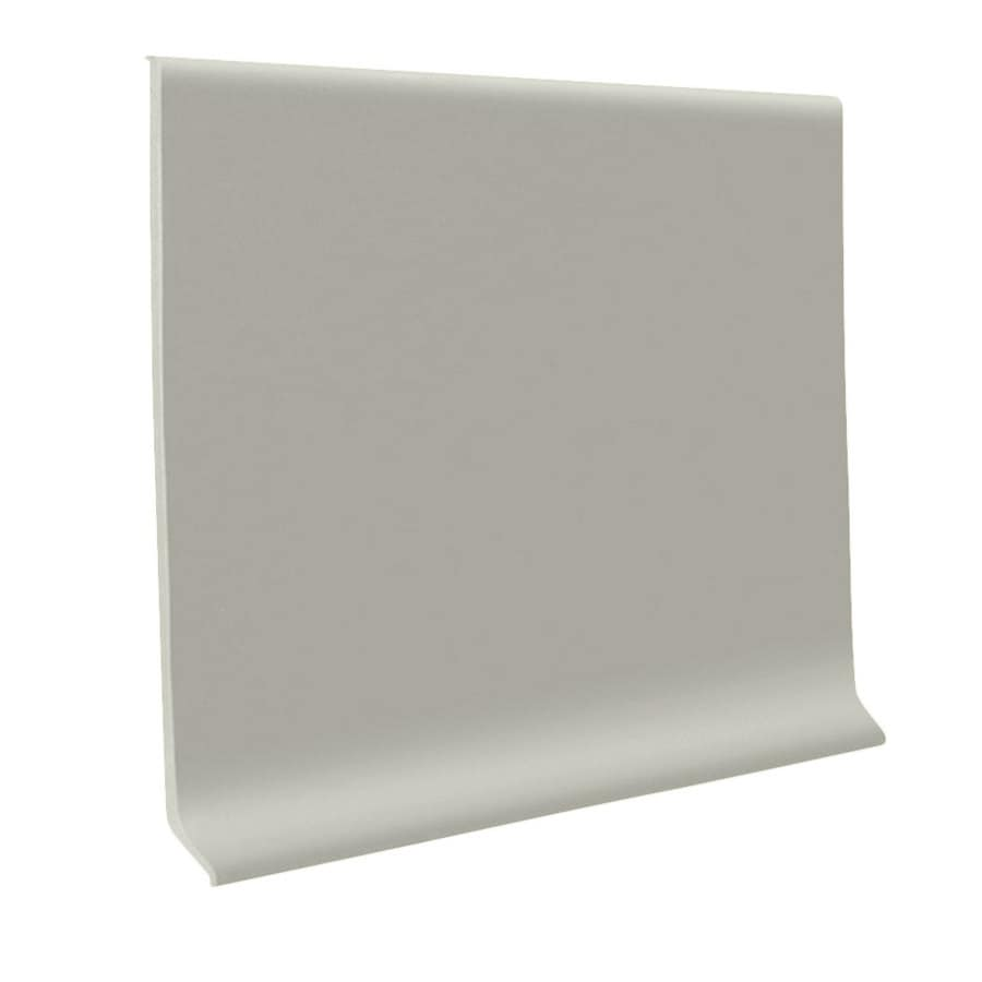 FLEXCO 30-Pack 4-in W x 4-ft L Light Gray Rubber Standard Wall Base