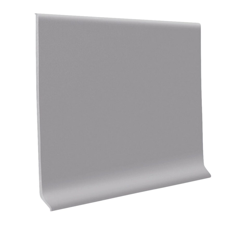 FLEXCO 30-Pack 4-in W x 4-ft L Gray Rubber Wall Base