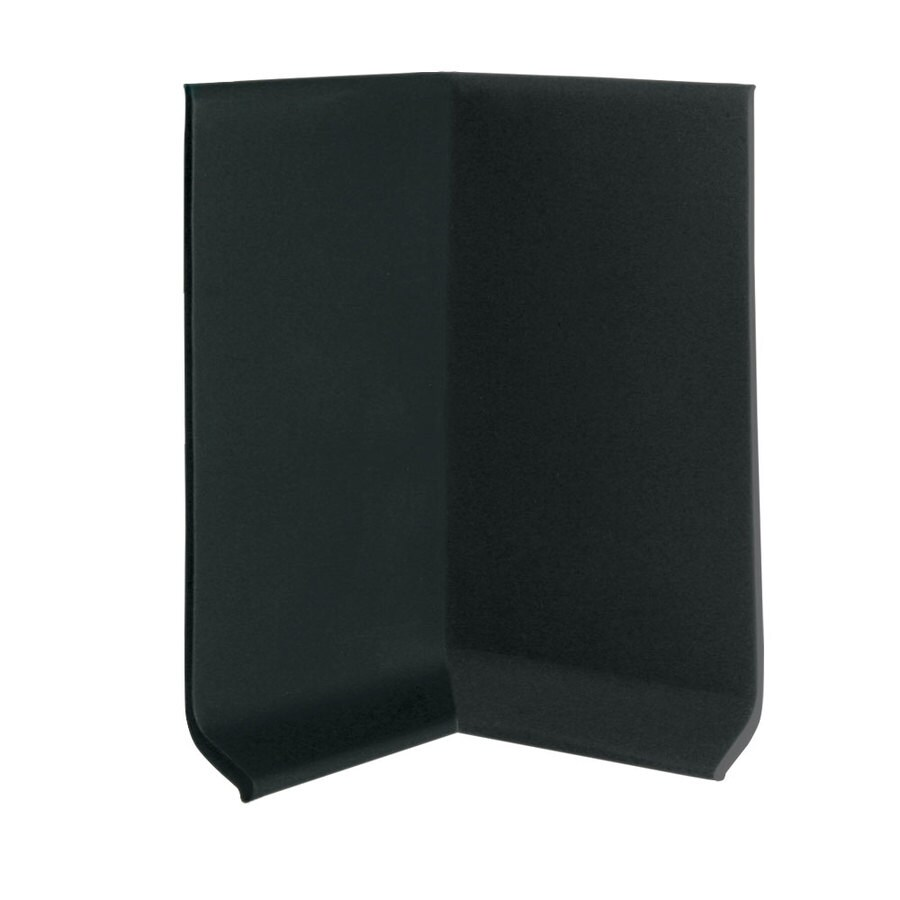 FLEXCO 30-Pack 4-in W x 0.25-ft L Black Dahlia Vinyl Inside Corner Wall Base