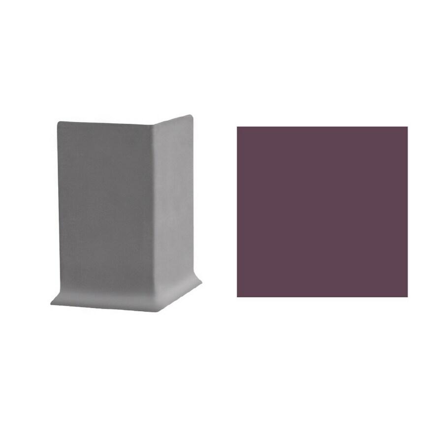 FLEXCO 2-1/2-in W x 3-in L Plum Pudding Outside Corner Vinyl Wall Base