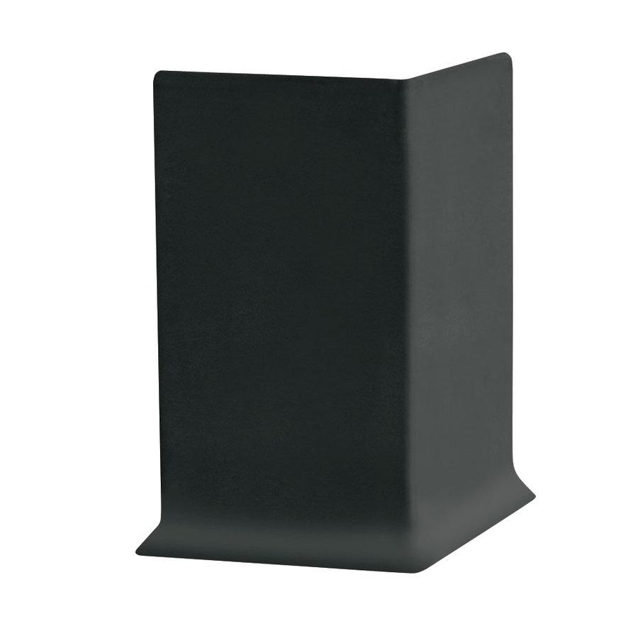 FLEXCO 30-Pack 4-in W x 3-ft L Black Dahlia Vinyl Outside Corner Wall Base