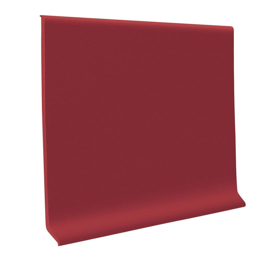 FLEXCO 30-Pack 6-in W x 4-ft L Berry Flexco Vinyl Wall Base RBR
