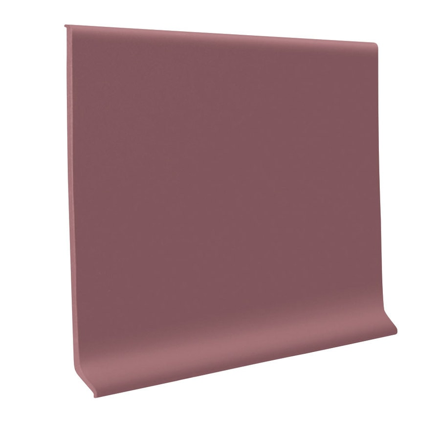 FLEXCO 30-Pack 6-in W x 4-ft L Plum Pudding Flexco Vinyl Wall Base RBR