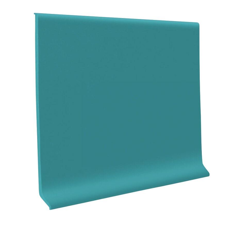 FLEXCO 30-Pack 6-in W x 4-ft L Mediterranean Green Flexco Vinyl Wall Base RBR