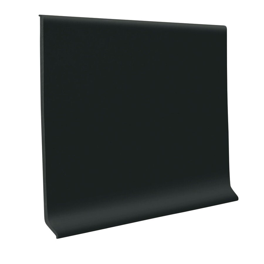 FLEXCO Wall Base Rbr 4-in Black Dahlia