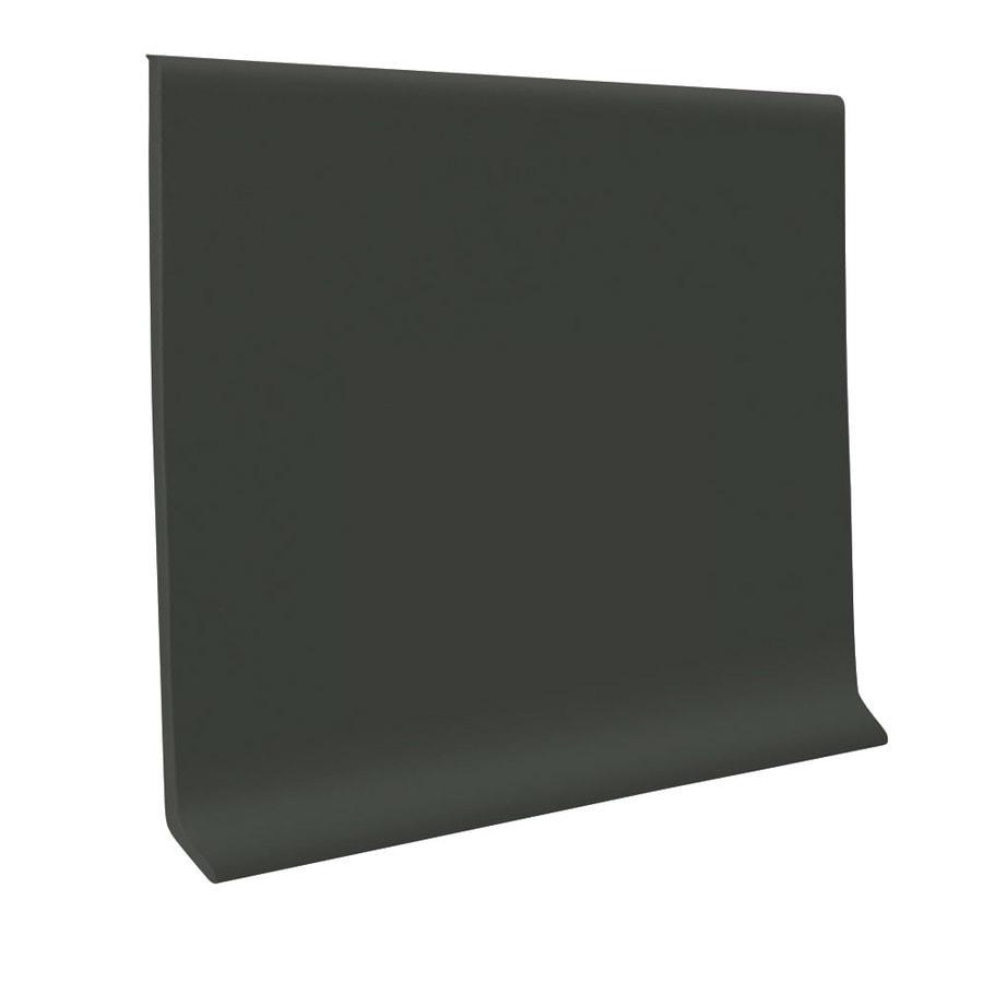 FLEXCO Wall Base Rbr 4-in Black/Brown