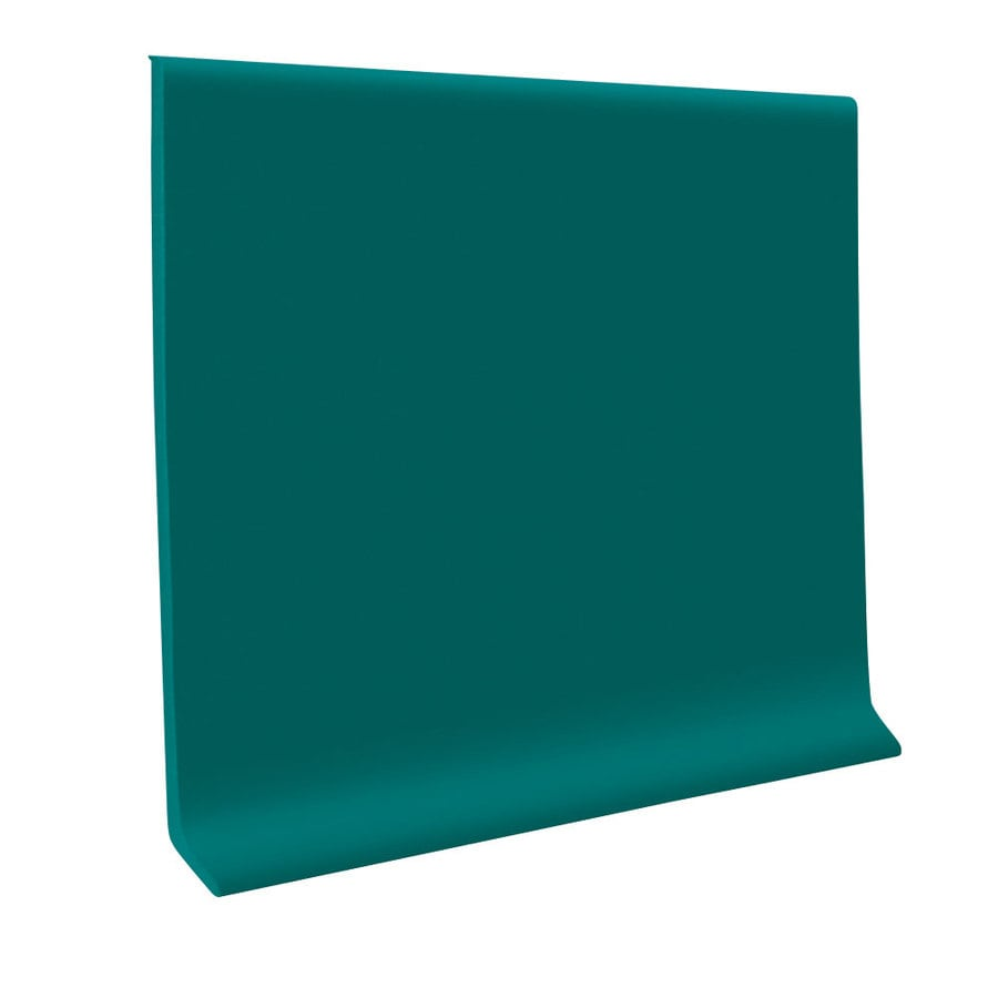 FLEXCO 30-Pack 6-in W x 4-ft L Polo Green Flexco Vinyl Wall Base VCB