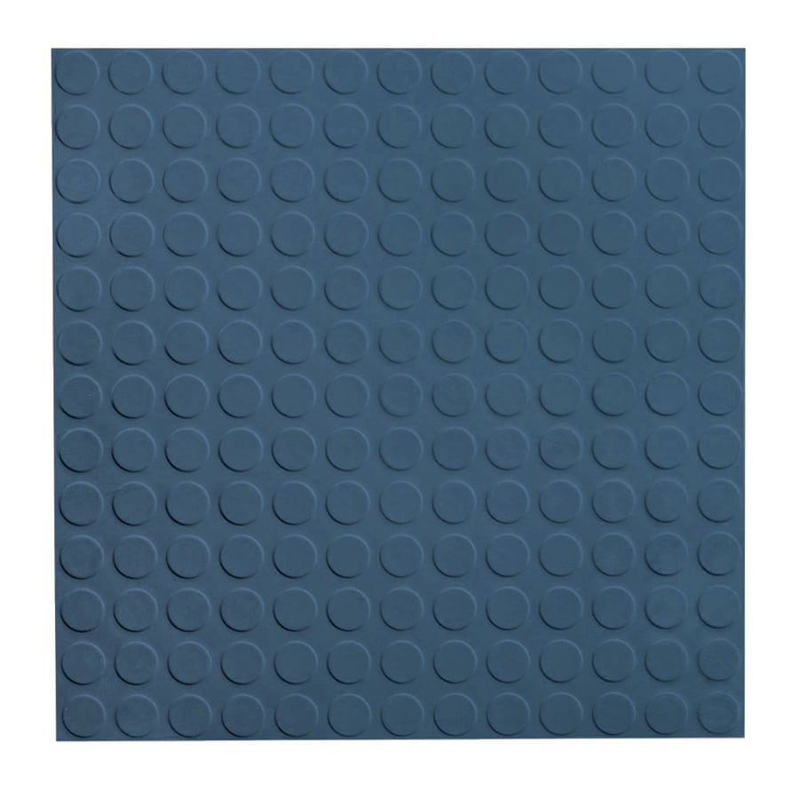 FLEXCO 18-in x 18-in Blue Full-Spread Adhesive Rubber Tile Multipurpose Flooring