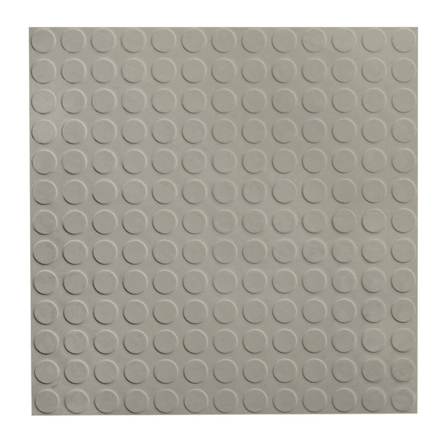 FLEXCO 18-in x 18-in Light Gray Full-Spread Adhesive Rubber Tile Multipurpose Flooring