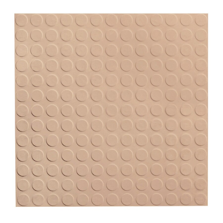 FLEXCO 18-in x 18-in Dune Full-Spread Adhesive (Solid Color) Rubber Tile Multipurpose Flooring