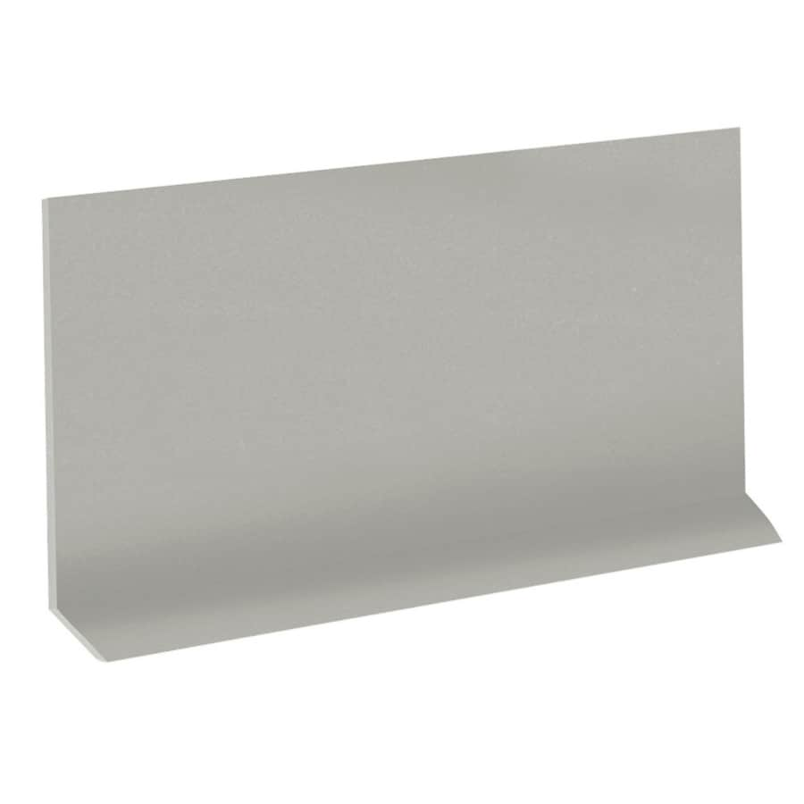 FLEXCO Riser 7-in x 48-in Light Gray Rubber Stair Risers