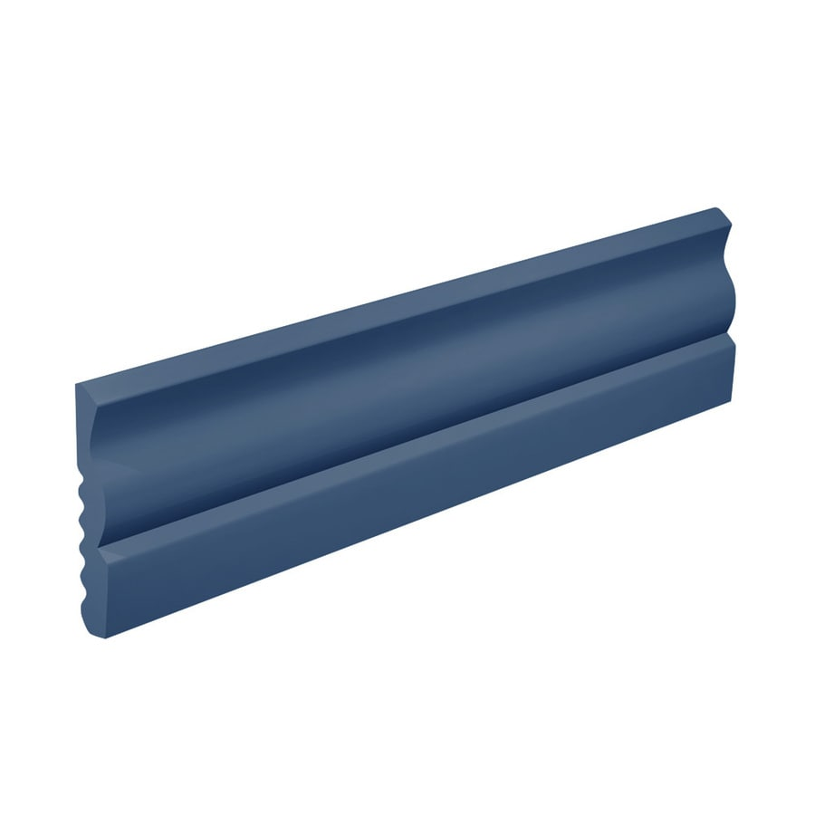FLEXCO 2.625-in W x 40-ft L Blue Thermoplastic Rubber Wall Base