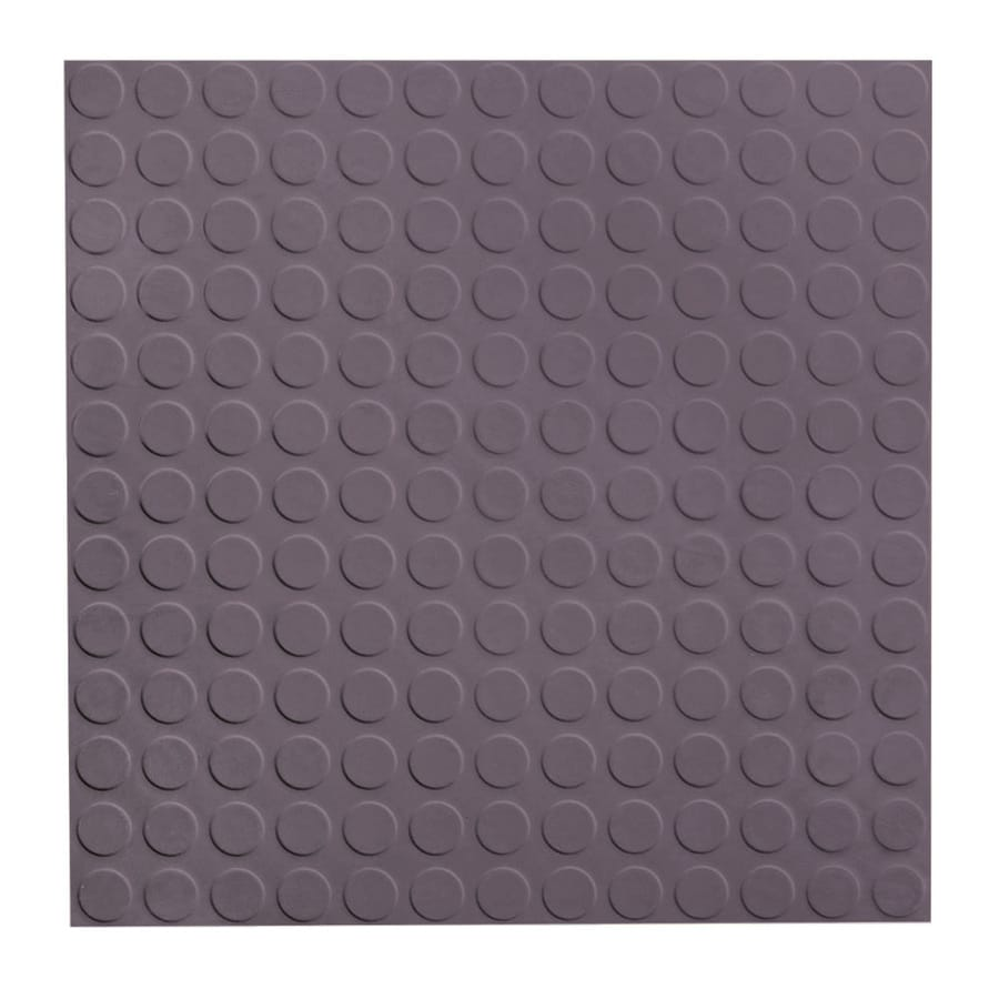 FLEXCO 18-in x 18-in Charcoal Full-Spread Adhesive Rubber Tile Multipurpose Flooring